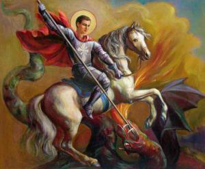 Saint George vs the Dragon